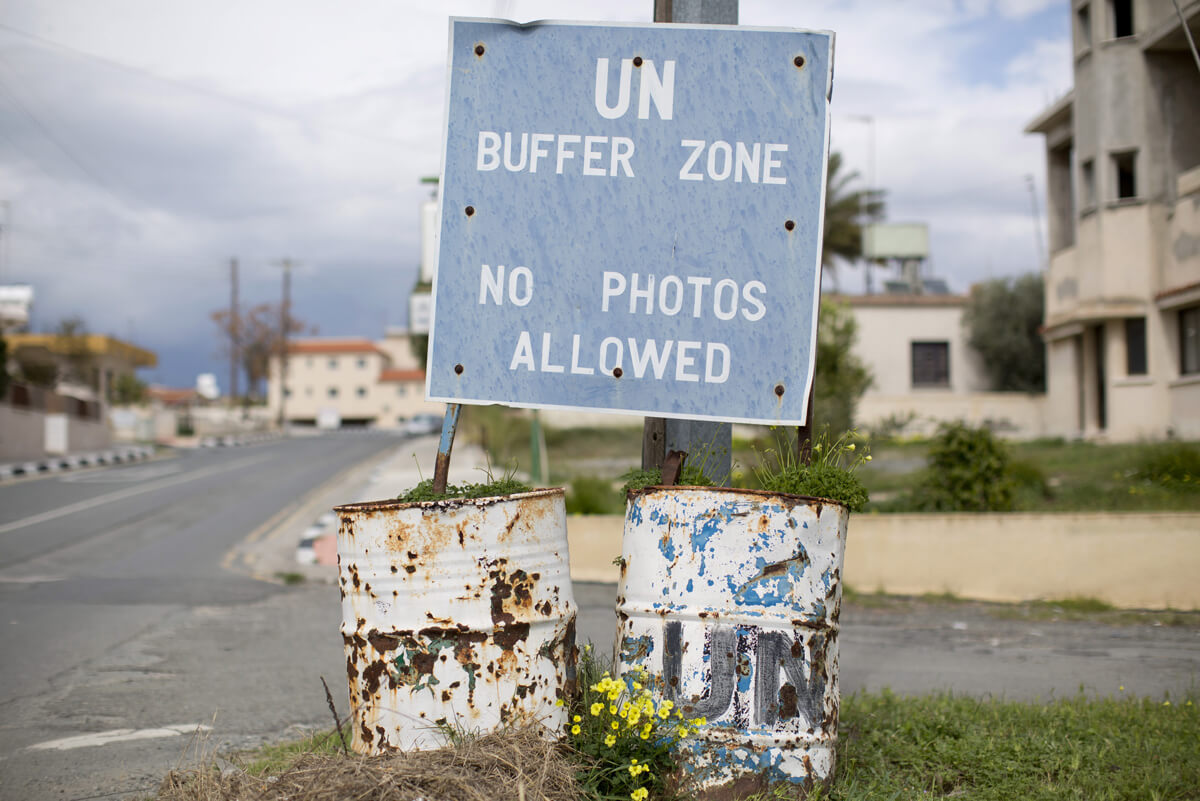 United Nations Buffer Zone in Cyprus. (Reuters/Neil Hall)
