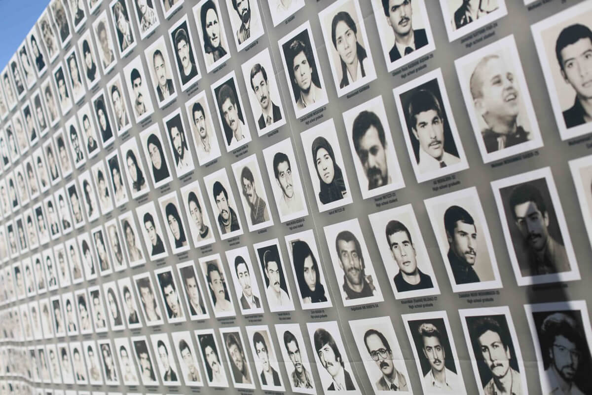 Taken on September 3, 2016 during the special conference organized to launch a general mobilization demanding justice for victims of the 1988 massacre in Iran. (Siavosh Hosseini/NurPhoto/Getty Images)